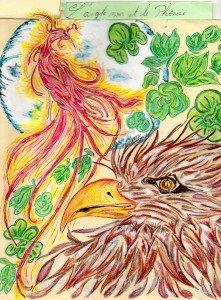 """crée d 'après un poème"""" l' aigle et le Phoenix""""."""